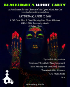 Church of the Open Mind April 7, 2018 Fundraiser Flyer